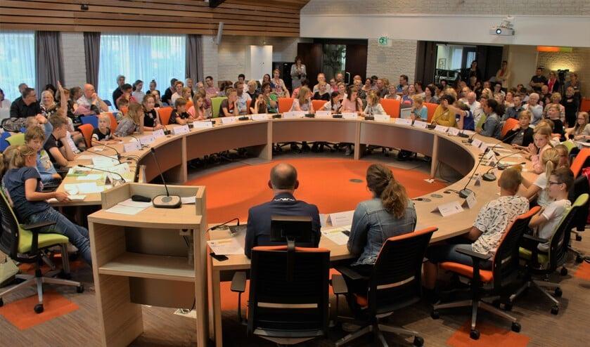 Kindergemeenteraad gemeente West Maas en Waal in 2018.
