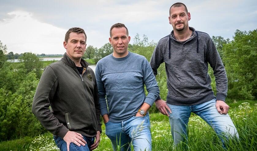Thim Vernooij, Egon van Kessel en Dennis Lindeman.