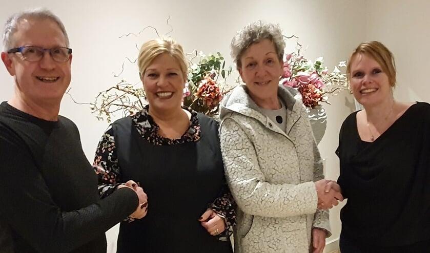 v.l.n.r. Aart van Gelderen, Renate Baas- van Eck, Antoinette Verkerk en Ester Taman- van Beem