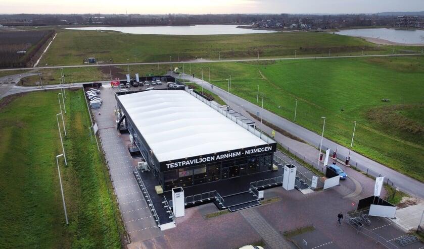 <p>Het testpaviljoen Arnhem-Nijmegen.</p>