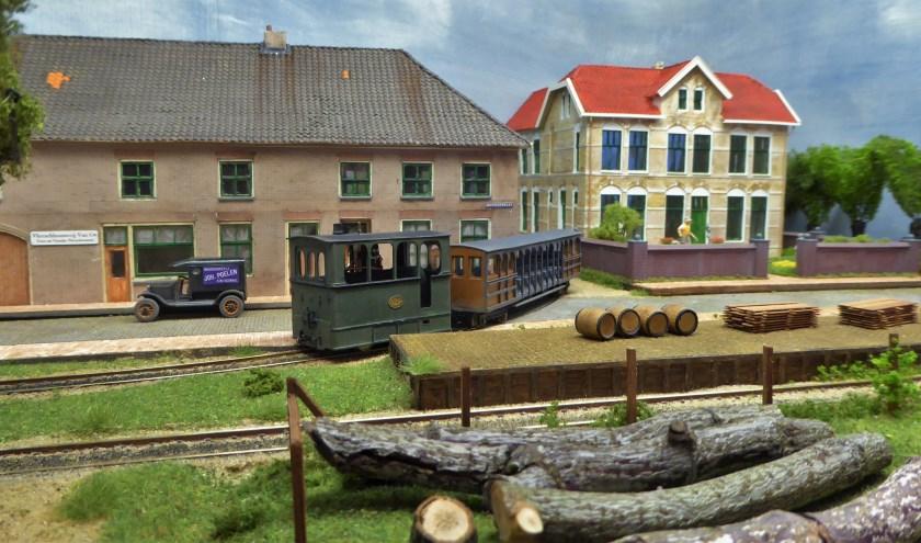 Koningswaal, een fictief dorp met elementen zijn gebruikt uit Maas en Waal