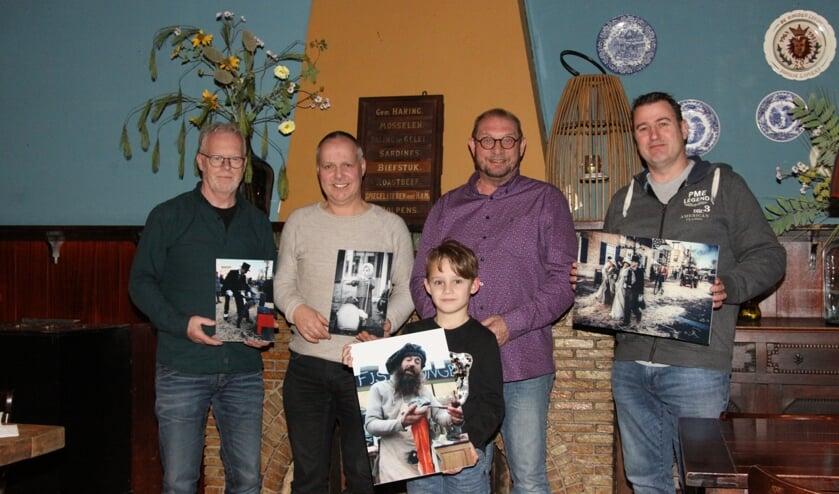 v.l.n.r. Nico van Loon, Henk Maas, Jesse Voet, Jan de Vuijst en Rob Peters.