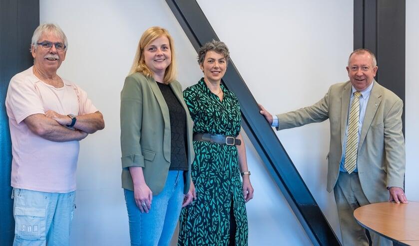 Theo Roelofs, Sandrine Knippenburg, Mariëlle van Swaay en Sjef van Elk.