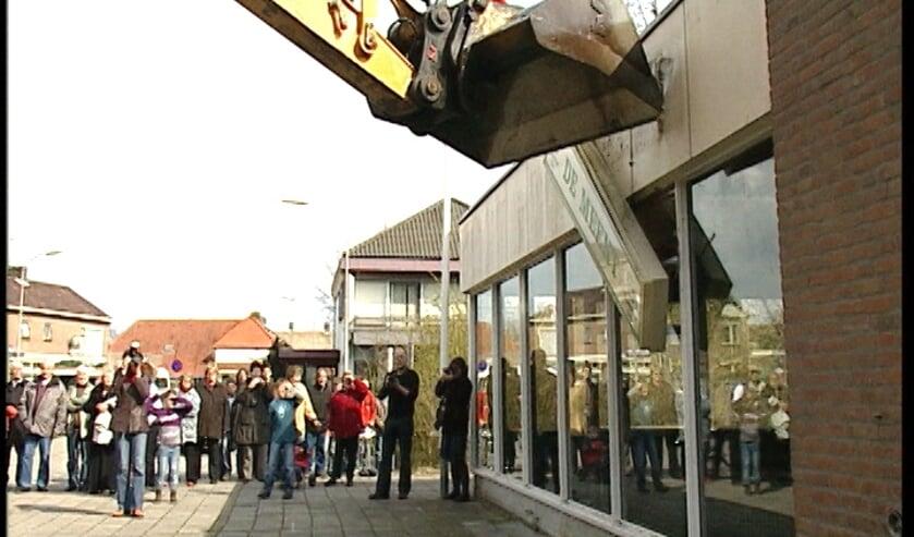 Still uit film 'Startschot sloop De Meent'