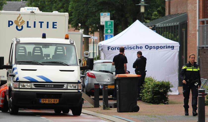 De plaats delict aan de Burgemeester Geradtslaan in Beuningen.