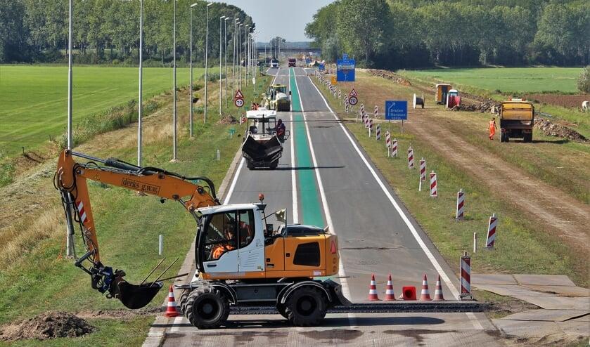 <p>Onderhoud Maas en Waalweg afgelopen weekend.</p>