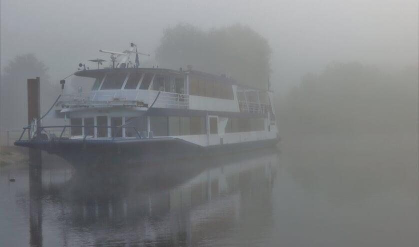 Mistige ochtend in Maas en Waal