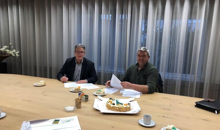 Martin Scherpenborg (links) en René Cruijsen.