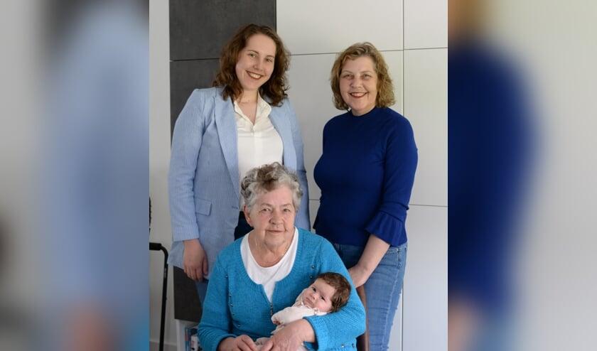 Vier generaties familie Zegers.