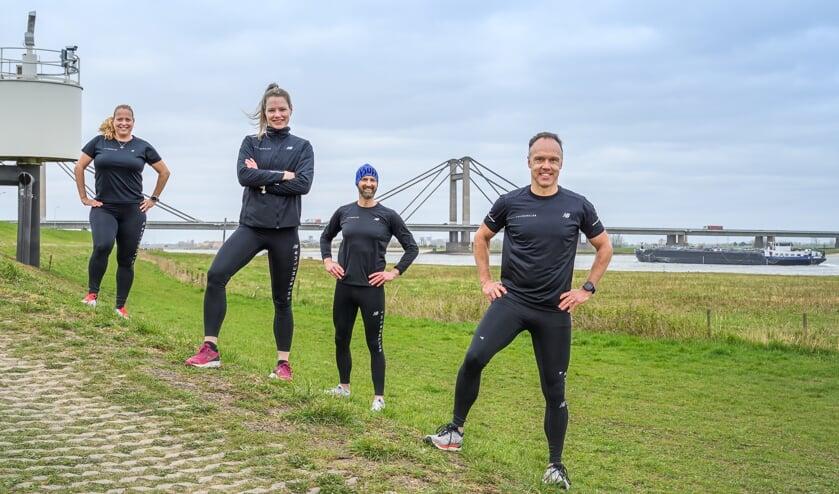<p>De vier oprichters van The Runclub.&nbsp;</p>