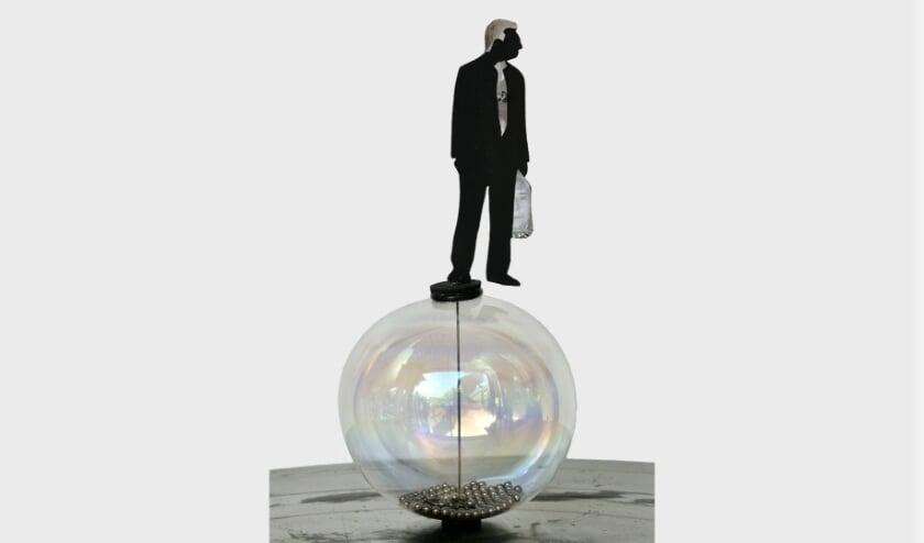 een kunststuk uit de expositie Globetrotters