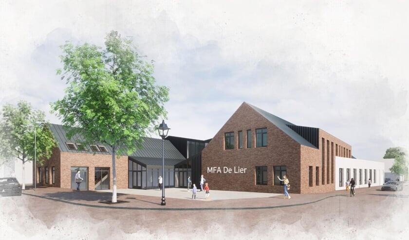 <p>Voorbeeldontwerp van een mogelijk nieuw dorpshuis De Lier.</p>