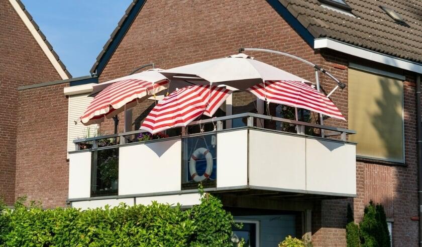 <p>Balkon in de gemeente Deventer in Overijssel</p>
