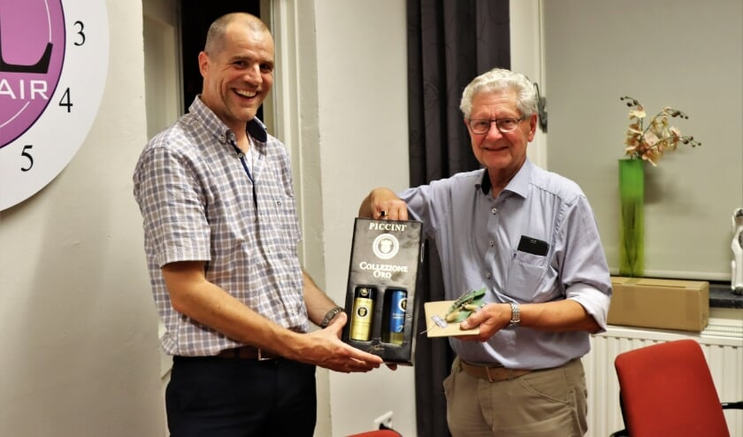 Voorzitter Edwin van Opstal (links) en Wim Coenders.
