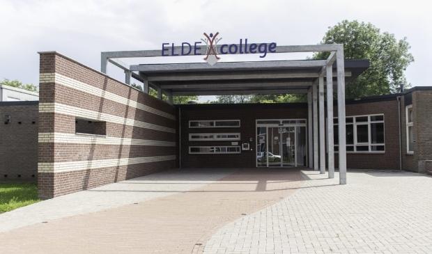 De entree van het Elde College.