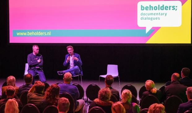 <p>Willem Wouters in gesprek met Jason Loftus.</p>