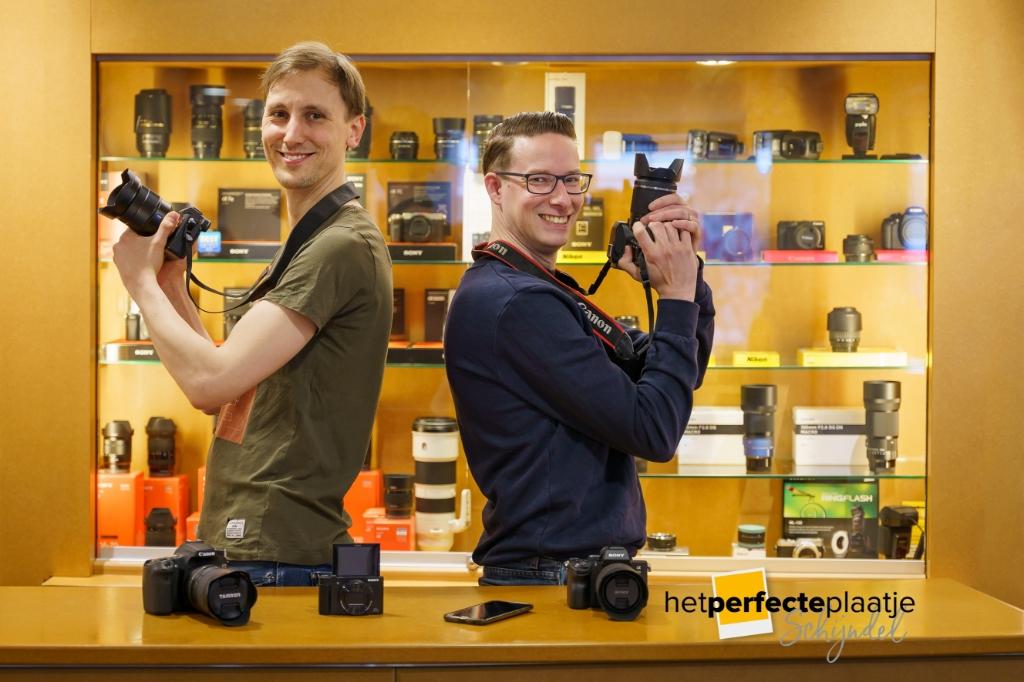 <p>Tom Keetels en Bas Ulehake zijn klaar voor Het Perfecte Plaatje Schijndel.</p>