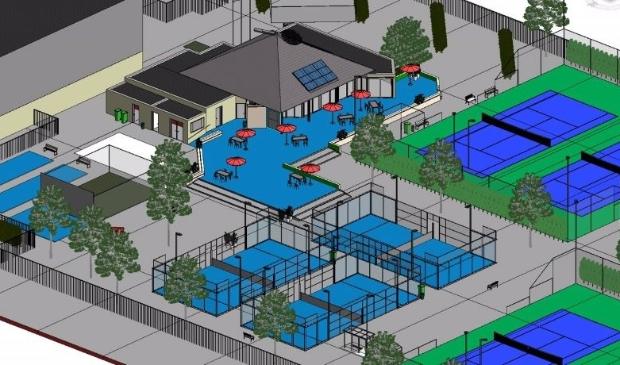 Zo moet het sportpark van TV de Hopbel er uit komen zien.