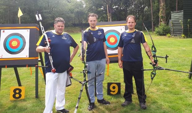 <p>Vlnr: Marc Steenbakkers, Paul en Rob van den Brand</p>