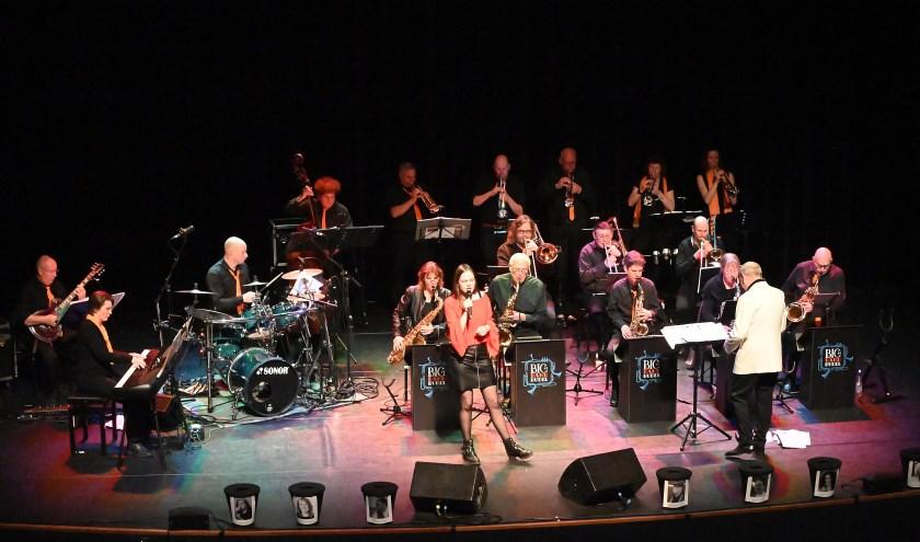 De bigband tijdens een van de Singing with a bigband optredens