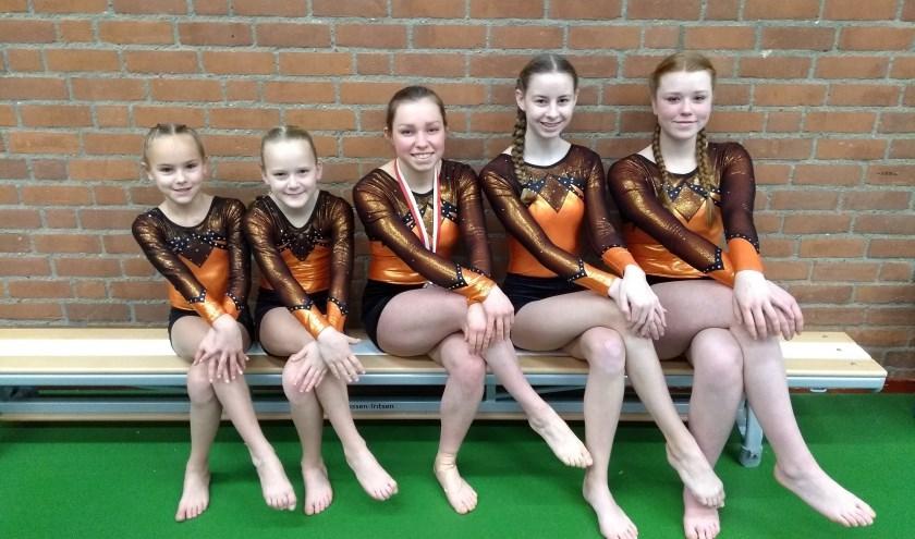 Lore, Mila, Aniek, Esmée en Amber, foto: Jerney Drieman