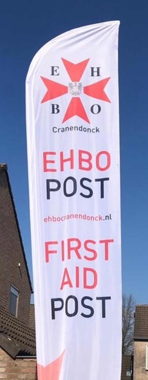 Beachvlag voor bij EHBO post Foto: EHBO vereniging Cranendonck © grenskoerier