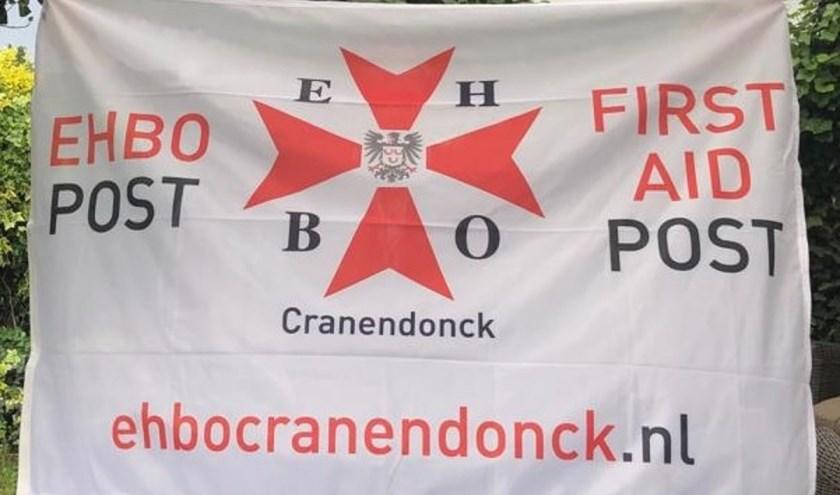 Vlag voor bij EHBO post