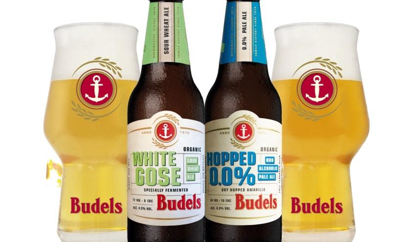 Budels White Gose en Budels Hopped 0,0% zijn vanaf heden verkrijgbaar in horeca en winkelkanaal.