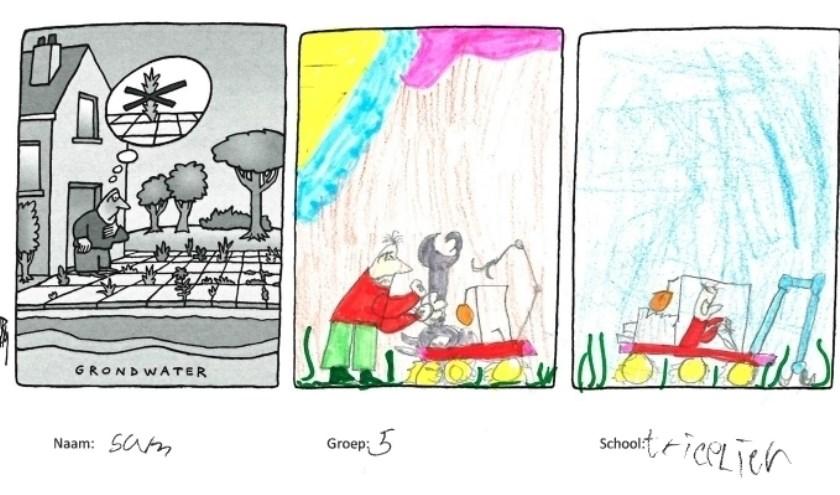Tekening van Sam uit groep 5 van basisschool de Triolier, foto: Margot Veenenbos