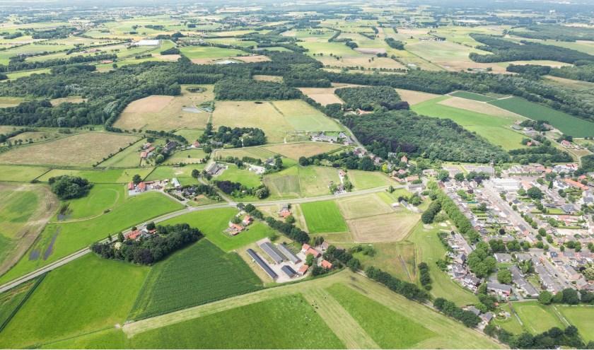 Luchtfoto met zicht op de Krang (Swartbroek, Weert), foto: Erwin Christis