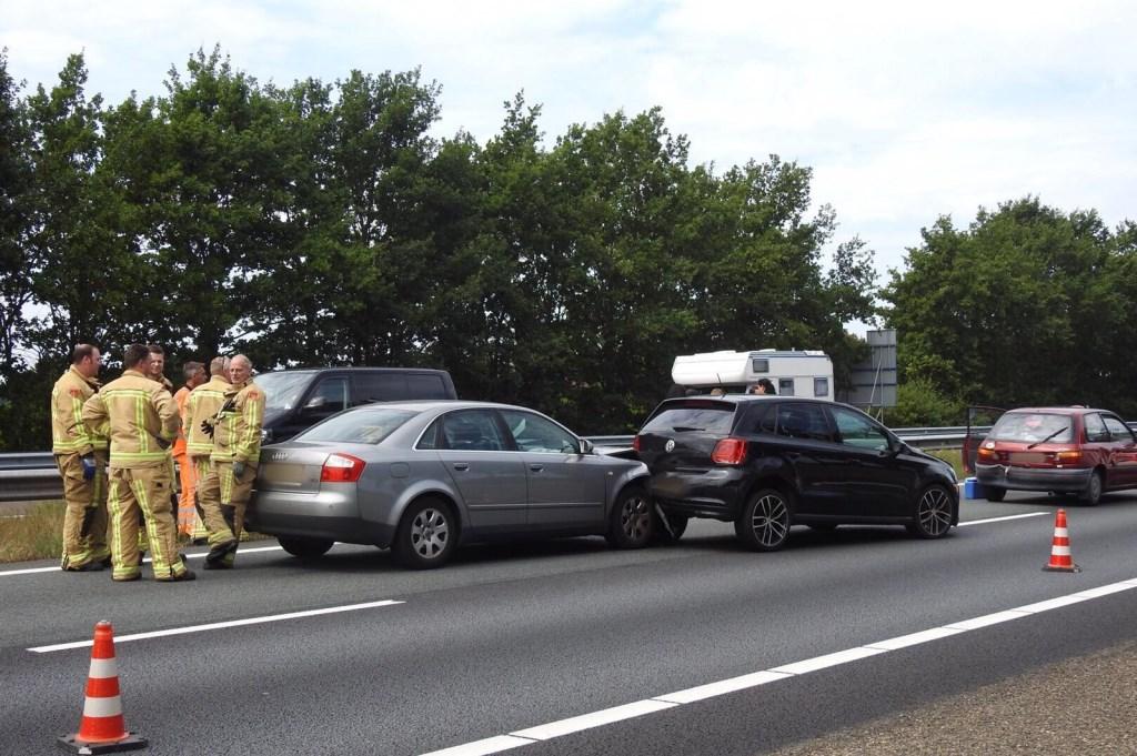Zowel de politie, brandweer als ambulance kwamen met spoed ter plekke.  Foto: Jozef Bijnen © grenskoerier
