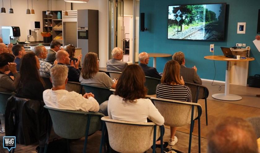 Presentatie van het onderzoek, foto: VTV-treinreizigers