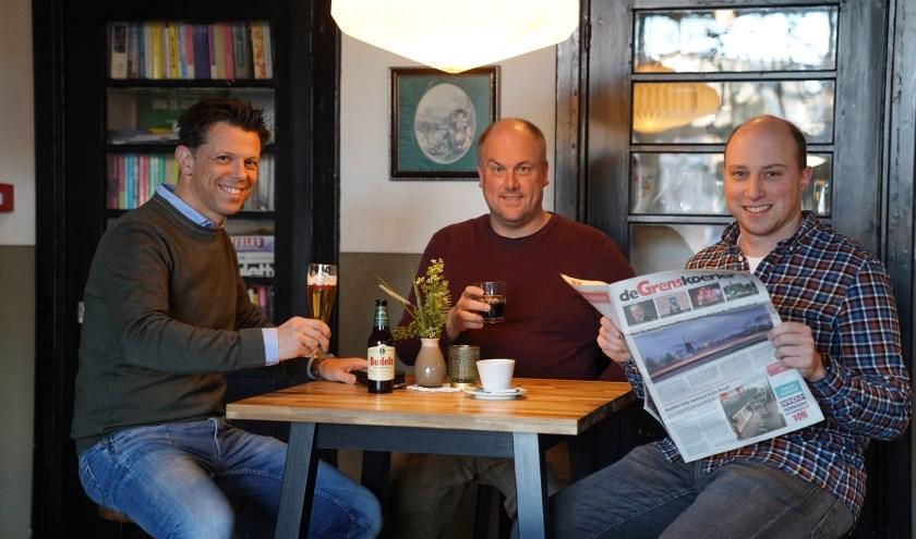 Marco Verdonk (links) met de beide heren van Weert-de-Gekste