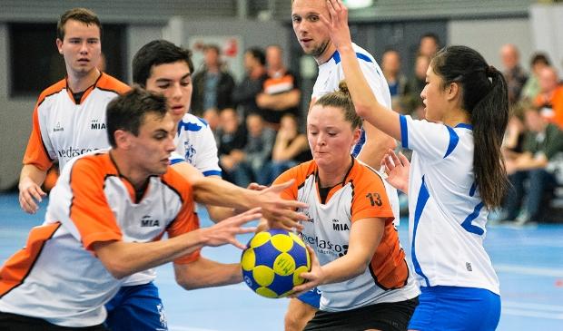 <p>Archieffoto: Korfballers van MIA in actie.</p>
