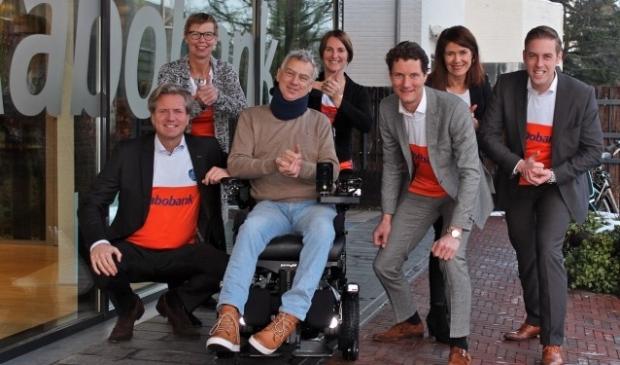 Het deelnemende Raboteam vlnr: Migchel Dirksen, Helene van der Werve, Vincent Cornelissen, Christian Visser, Suzan Ott, Nelly Oelderik en Karel Boonzaaijer.