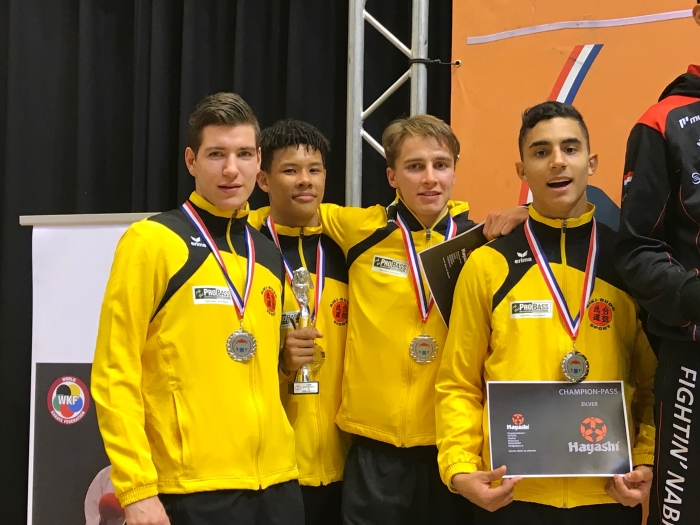 Teams jongens U21 PR Kenamju Karate © BDU media