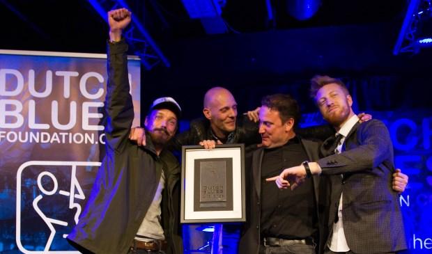 The Dynamite Blues Band is blij met de winst in de Dutch Blues Challenge.