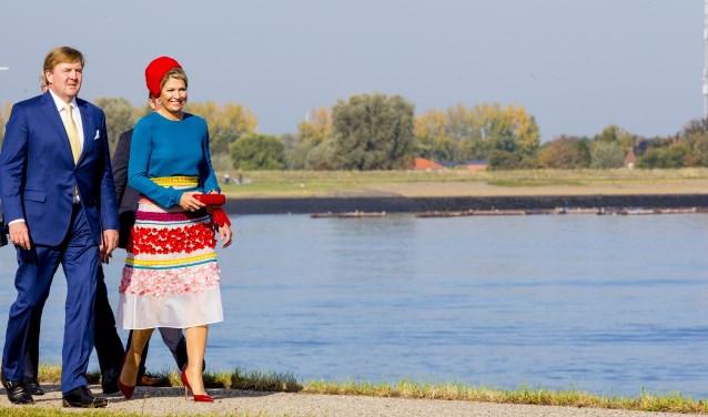 Het Koningspaar tijdens een streekbezoek aan Zeeland in oktober.