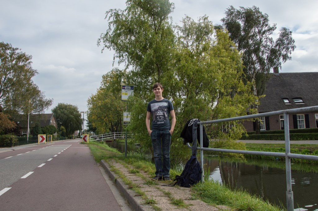 Stefano reist iedere dag van Schalkwijk naar station Houten Castellum Sharmaine Berkelaar © BDU media