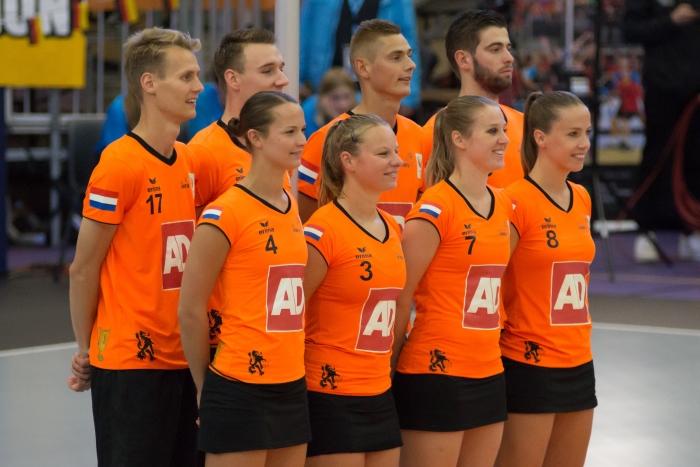 Team NL met Barbara Brouwer 2e van links