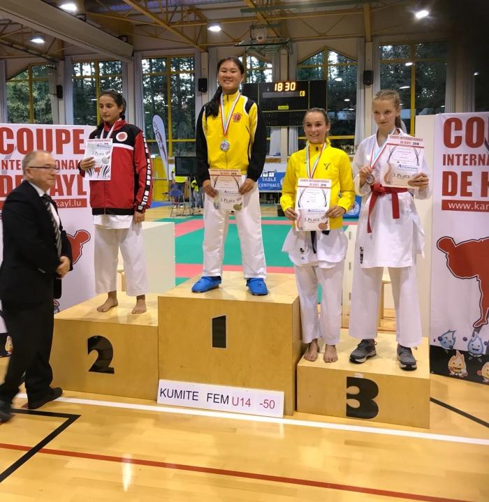 1e plaats Elisa Lie PR Kenamju Karate © BDU media