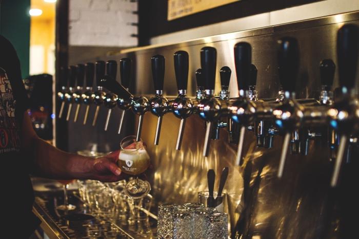 21 bieren op tap Rock City Brewing © BDU