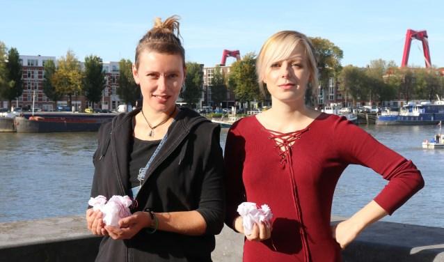 Kunstenaars Lonneke Jonker en Jessica van Deursen