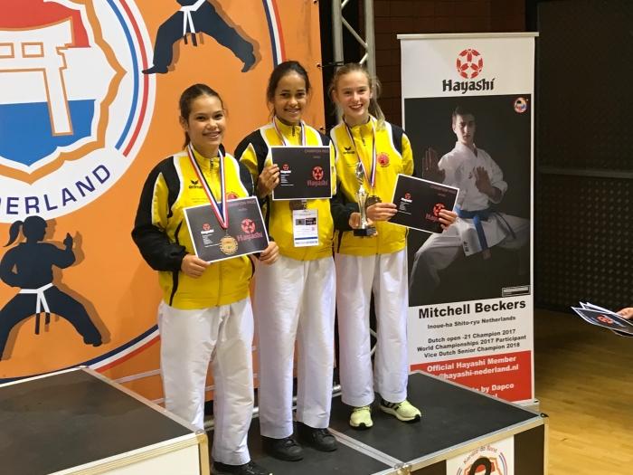 Teams meisjes U14 PR Kenamju Karate © BDU media
