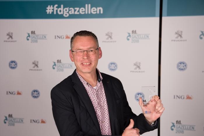 Namens het gehele team van SucceedIT mocht onze Marketing Manager Peter Jan, de Award in ontvangst nemen.
