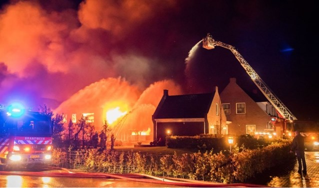 Veel rookgassen en roetdeeltjes kwamen bij de brand vrij