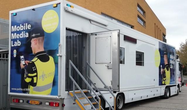 Het Mobile Media Lab waarin leerlingen van het OMNIA College les kregen