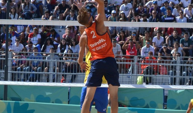 Yorick in actie op de Olympische Spelen.