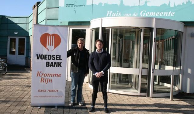 Ed van Proosdij en Freddy van Scherpenzeel zoeken nieuwe vrijwilligers voor de Voedselbank Kromme Rijn