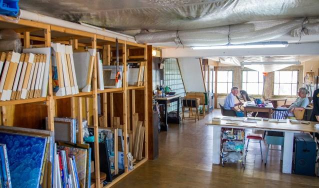 het atelier van Jopie Hacquebord